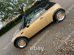 15 Gold Dare RS Alloy Wheels Fits Volkswagen Caddy Van Golf Mk1 Mk2 Mk111 4x100