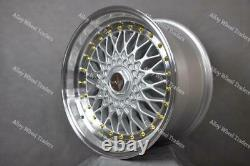 15 Silver RS Alloy Wheels Fits Volkswagen Caddy Derby Polo Lupo Golf 4x100 GS