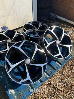 17 New GTI Style Alloy Wheels Only Black/Diamond Cut to fit Audi A1 all models