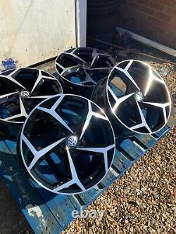 17 Polo GTI Style Alloy Wheels Only Black/Diamond Cut to fit Volkswagen Polo