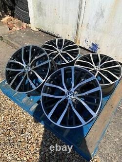 17 Polo GTI Style Alloy Wheels Only Black/Polished face to fit Volkswagen Polo