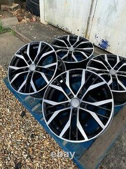 17 Santiago Style Alloy Wheels Only Black/Diamond Cut to fit Audi A3 (2004-on)