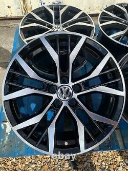17 Santiago Style Alloy Wheels Only Black/Diamond Cut to fit Volkswagen Polo
