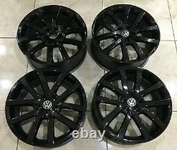 17 Vw Golf Vancouver Style Alloy Wheels 5x100 Mk4 Rs4 Seat Leon Mk1 Skoda Fabia