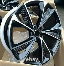 18 1920New RS7 Style Alloy Wheels Gloss Black/Diamond Cut to fit Audi