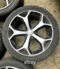 18 5x108 Ford Focus titanium alloy wheels alloys with tyres zetec St Style