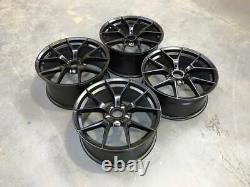 18 763M M4 CS Style Alloy Wheels Satin Black BMW F30 F32 F20 F22 1 2 3 Series