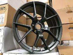 18 763M M4 CS Style Alloy Wheels Satin Gun Metal BMW F20 F21 F22 F23 5x120