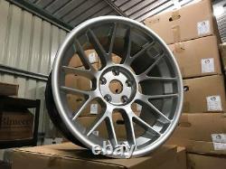 18 BBS RC ARC 8 Style Alloy Wheels MASSIVE CONCAVE Quartz Silver BMW E60 E61 M5