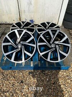 18 Clubsport Style Alloy Wheels Only Black/Pol to fit Volkswagen Golf Mk5 6 7 8