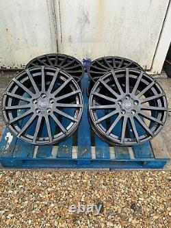 18 Ford RS Style Alloy Wheels Only Gloss Black to fit all Ford Transit Connect
