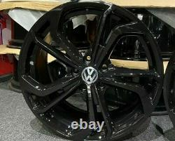 18 Gloss Black VW Golf GTI TCR Style Alloy Wheels Golf Caddy Tiguan + more