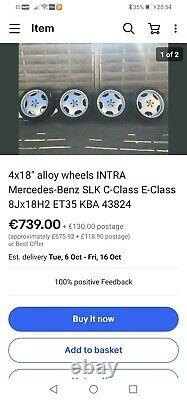 18 Mercedes AMG Monoblock Style Alloy Wheels by Intra Germany 5x112 A C E Class