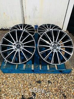 18 Mercedes AMG Turbine Style Alloy Wheels Black/Polished Mercedes C-Class W205