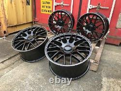 18 Mercedes C63S AMG Style Alloy Wheels Only Black/Pol Mercedes A-Class CLA