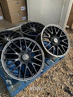 18 Mercedes C63S AMG Style Alloy Wheels Only Black/Pol Mercedes A-Class W177