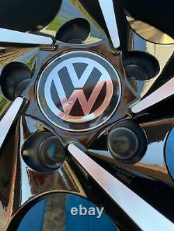 18 New GTI Style Alloy Wheels Only Black/Diamond Cut to fit Volkswagen Golf