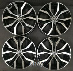 18 Santiago Style Alloy Wheels Only Black/Diamond Cut for Volkswagen Scirocco