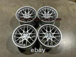 18 Strom STR2 Style Alloy Wheels MASSIVE CONCAVE Quartz Silver BMW 5 6 Series