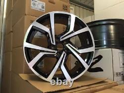 18 VW Golf Clubsport Style Alloy Wheels Gloss Black Machined MK5 6 7 Audi A3