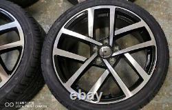 18 VW Golf JURVA Style Alloy Wheels+tyres fits VW Golf MK5 MK6 MK7 (x4)