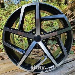 18'' Vw Golf Dallas Gti Style Black Machined Alloy Wheels 5x112 Et45 Mk6 Mk7 Mk8