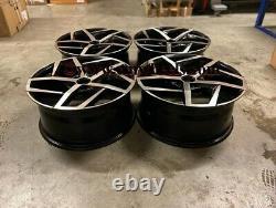 18 x4 Golf Dallas Style Alloy Wheels Gloss Black Machined VW MK5 MK6 MK7 MK8