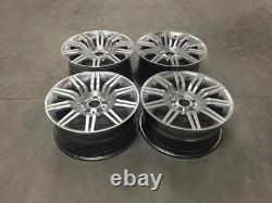 19 535 Spyder Style Alloy Wheels Hyper Silver Spider BMW 5 Series E60 E61