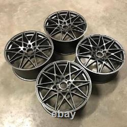 19 666M Competition Style Alloy Wheels Gun Metal BMW F30 F31 F32 F33 3 4 Series