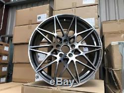 19 666M M3 M4 Style Alloy Wheels Gun Metal Machined BMW F30 F31 F32 F33 F36