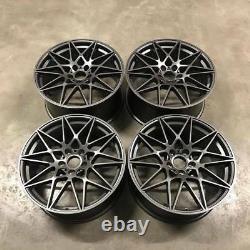 19 666M M4 CS Style Alloy Wheels Satin Gun Metal BMW F80 M3 F82 F83 M4 F87 M2