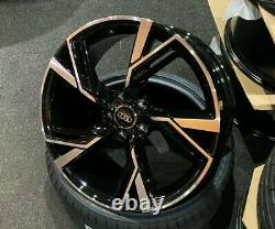 19 Audi 2020 RS6 Style Gloss Black alloy wheels & 235/35/19 tyres Audi A3 S3