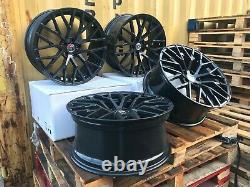 19 Audi R8 Black Edition Plus Style Alloy Wheels Audi Sline Rims A4 A6 B8 B9