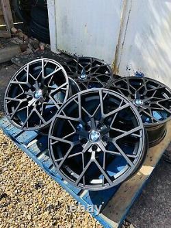 19 BMW 795M Style Satin Black Alloy Wheels Only BMW 3 Series E90 E91 E92 E93
