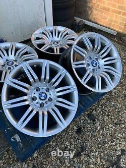19 BMW Spider Style Alloy Wheels Only Hyper Silver to fit BMW 5 Series E60 E61