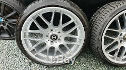 19 BMW style CSL Alloy Wheels With Tyres staggered and agressive e92 e92 m3 e90