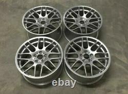 19 Bmw CSL Style Silver Alloy Wheels Fit Bmw 3 Series E90 E91 E92 E93