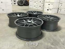 19 CSL DEEP CONCAVE Style Alloy Wheels Gloss Gun Metal BMW E46 M3 Z4M