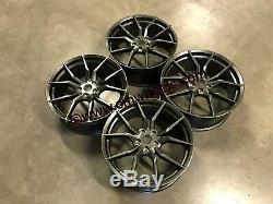 19 Ford Focus RS MK3 Style Alloy Wheels Gun Metal Fits Focus 5x108 63.4