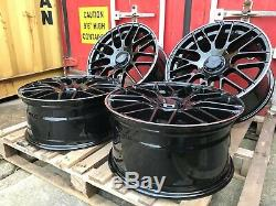 19 Mercedes AMG C63 Style alloy wheels Staggered Black C-class/E-class +