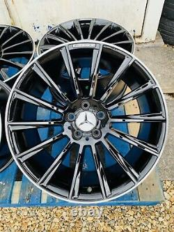 19 Mercedes AMG Turbine Style Alloy Wheels Only B+P edge Mercedes C-Class W205