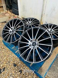 19 Mercedes AMG Turbine Style Alloy Wheels Only Black/Pol Mercedes E-Class W213