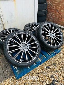 19 Mercedes AMG Turbine Style Alloy Wheels & Tyres B+P Mercedes E-Class W213