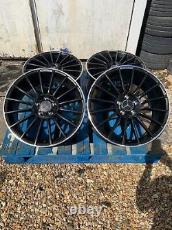19 Mercedes C63 AMG Style Alloy Wheels Only Black/Pol for Mercedes C-Class W205