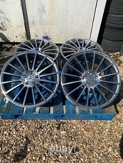 19 Mercedes C63 AMG Style Alloy Wheels Only Grey/Pol for Mercedes C-Class W204