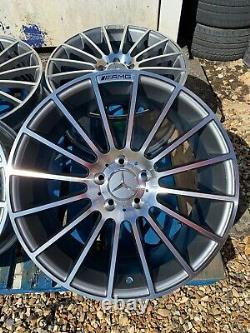 19 Mercedes C63 AMG Style Alloy Wheels Only Grey/Pol for Mercedes C-Class W205