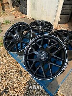 19 Mercedes E63 AMG Style Alloy Wheels Only Black/Pol Mercedes C-Class W204