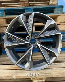 19 New 2020 RS7 Alloy Style Wheels Satin Gun Metal Audi A3 A4 A6 VW Golf Caddy