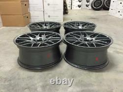 19 New CSL DEEP CONCAVE Style Alloy Wheels Gloss Gun Metal BMW E46 M3 Z4M