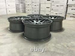 19 New CSL DEEP CONCAVE Style Alloy Wheels Gloss Gun Metal BMW E90 E92 E46 M3